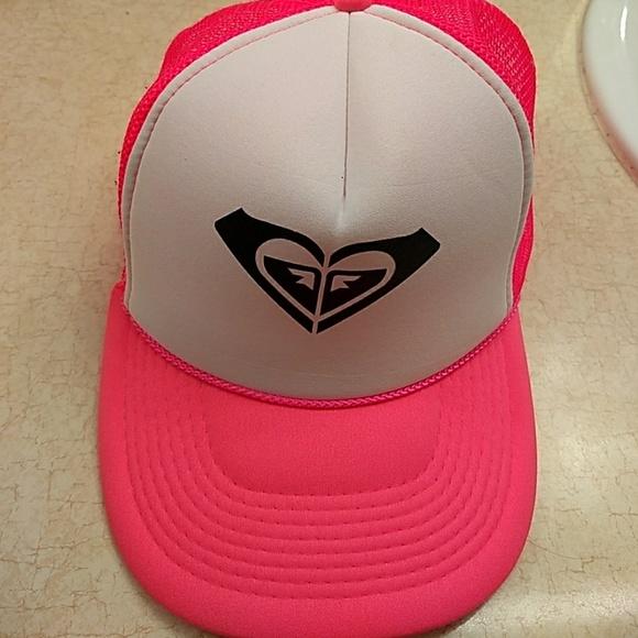 5478640f44a Hot pink roxy trucker hat. M 5b95fe622beb79bb322950cc. Other Accessories ...